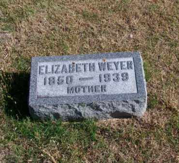 WEYER, ELIZABETH - Brown County, Nebraska | ELIZABETH WEYER - Nebraska Gravestone Photos