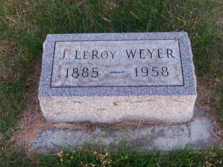 WEYER, J. LEROY - Brown County, Nebraska | J. LEROY WEYER - Nebraska Gravestone Photos