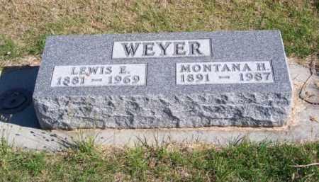 WEYER, MONTANA H. - Brown County, Nebraska | MONTANA H. WEYER - Nebraska Gravestone Photos