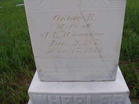 WHEELER, ANNIE B. - Brown County, Nebraska | ANNIE B. WHEELER - Nebraska Gravestone Photos