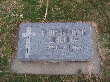 WHEELER, EMILY BLANCH - Brown County, Nebraska | EMILY BLANCH WHEELER - Nebraska Gravestone Photos