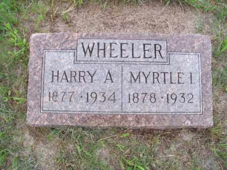 WHEELER, MYRTLE I. - Brown County, Nebraska | MYRTLE I. WHEELER - Nebraska Gravestone Photos