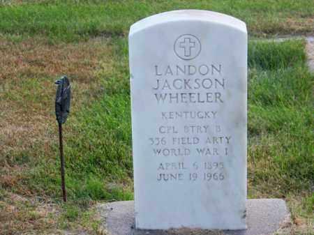 WHEELER, LANDON JACKSON - Brown County, Nebraska | LANDON JACKSON WHEELER - Nebraska Gravestone Photos