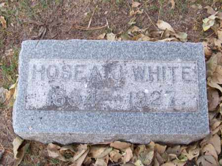 WHITE, HOSEA J. - Brown County, Nebraska | HOSEA J. WHITE - Nebraska Gravestone Photos