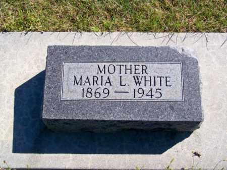WHITE, MARIA L. - Brown County, Nebraska | MARIA L. WHITE - Nebraska Gravestone Photos