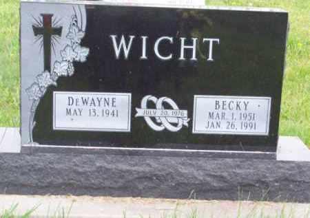WICHT, BECKY - Brown County, Nebraska | BECKY WICHT - Nebraska Gravestone Photos