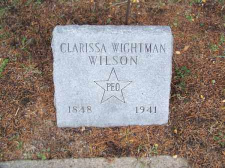 WIGHTMAN WILSON, CLARISSA - Brown County, Nebraska   CLARISSA WIGHTMAN WILSON - Nebraska Gravestone Photos
