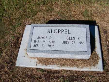 KLOPPEL, JOYCE D. - Brown County, Nebraska | JOYCE D. KLOPPEL - Nebraska Gravestone Photos
