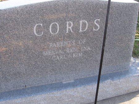 CORDS, HENRY & VERNA - Buffalo County, Nebraska | HENRY & VERNA CORDS - Nebraska Gravestone Photos