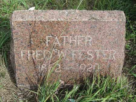 FESTER, FRED - Buffalo County, Nebraska | FRED FESTER - Nebraska Gravestone Photos