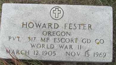 FESTER, HOWARD - Buffalo County, Nebraska | HOWARD FESTER - Nebraska Gravestone Photos
