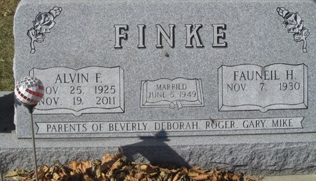 FINKE, ALVIN F. - Buffalo County, Nebraska   ALVIN F. FINKE - Nebraska Gravestone Photos