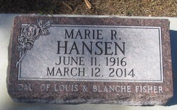 HANSEN, MARIE R. - Buffalo County, Nebraska | MARIE R. HANSEN - Nebraska Gravestone Photos