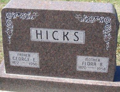HICKS, FLORA B. - Buffalo County, Nebraska | FLORA B. HICKS - Nebraska Gravestone Photos
