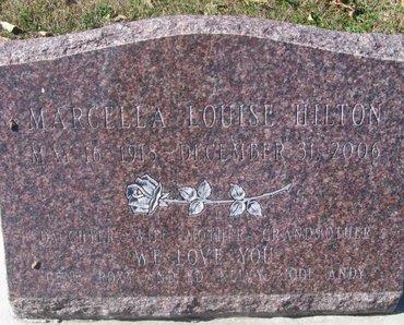 HILTON, MARCELLA LOUISE - Buffalo County, Nebraska | MARCELLA LOUISE HILTON - Nebraska Gravestone Photos