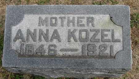 KOZEL, ANNA - Buffalo County, Nebraska   ANNA KOZEL - Nebraska Gravestone Photos