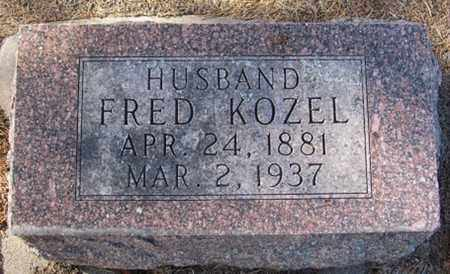 KOZEL, FRED - Buffalo County, Nebraska | FRED KOZEL - Nebraska Gravestone Photos