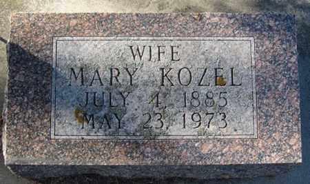 KOZEL, MARY - Buffalo County, Nebraska   MARY KOZEL - Nebraska Gravestone Photos