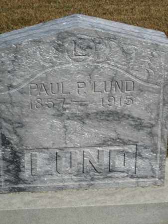 LUND, PAUL P. - Buffalo County, Nebraska   PAUL P. LUND - Nebraska Gravestone Photos