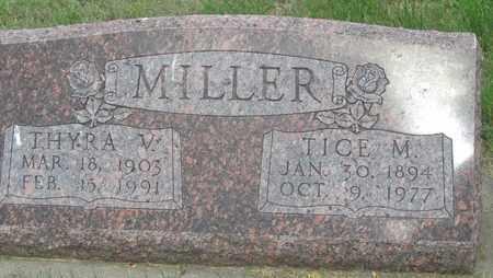 MILLER, THYRA - Buffalo County, Nebraska | THYRA MILLER - Nebraska Gravestone Photos
