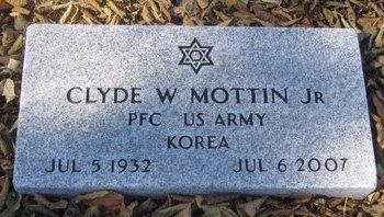 MOTTIN, CLYDE W. JR. - Buffalo County, Nebraska | CLYDE W. JR. MOTTIN - Nebraska Gravestone Photos