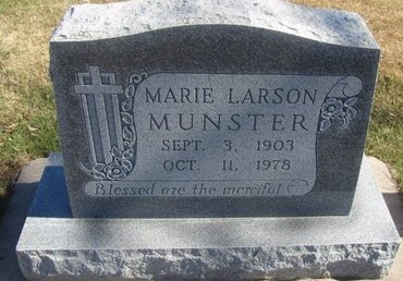 MUNSTER, MARIE - Buffalo County, Nebraska | MARIE MUNSTER - Nebraska Gravestone Photos