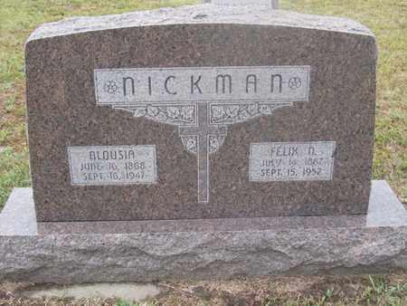 NICKMAN, FELIX - Buffalo County, Nebraska | FELIX NICKMAN - Nebraska Gravestone Photos