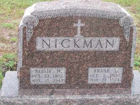 NICKMAN, BESSIE - Buffalo County, Nebraska | BESSIE NICKMAN - Nebraska Gravestone Photos