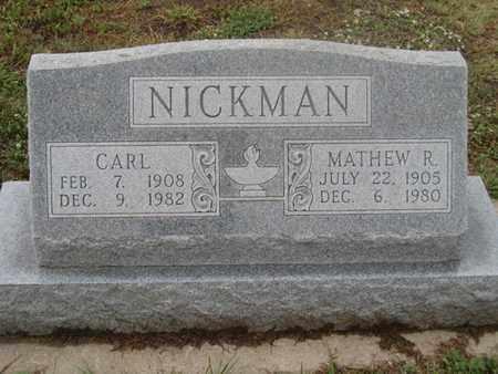 NICKMAN, CARL - Buffalo County, Nebraska | CARL NICKMAN - Nebraska Gravestone Photos