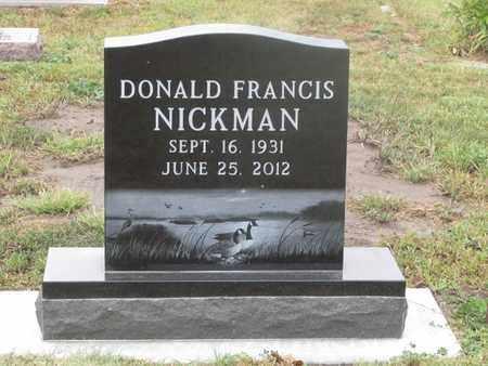 NICKMAN, DONALD - Buffalo County, Nebraska   DONALD NICKMAN - Nebraska Gravestone Photos