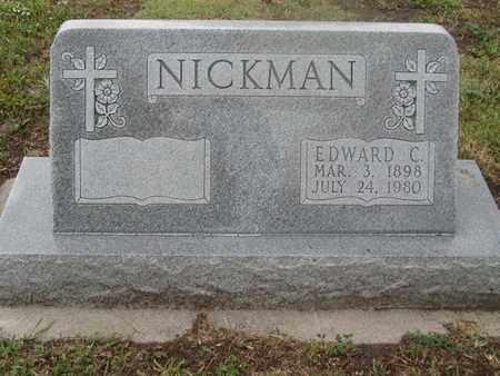 NICKMAN, EDWARD - Buffalo County, Nebraska   EDWARD NICKMAN - Nebraska Gravestone Photos