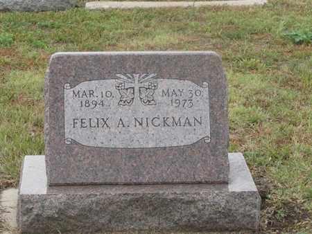 NICKMAN, FELIX - Buffalo County, Nebraska   FELIX NICKMAN - Nebraska Gravestone Photos