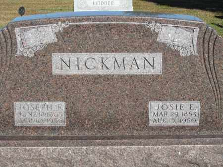NICKMAN, JOSIE E. - Buffalo County, Nebraska | JOSIE E. NICKMAN - Nebraska Gravestone Photos