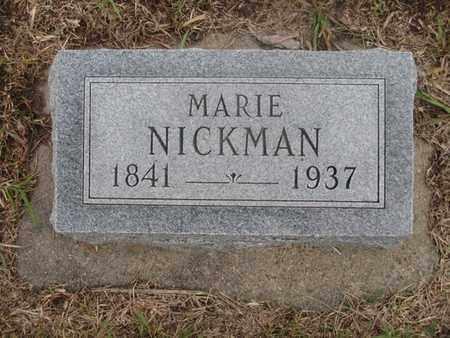 NICKMAN, MARIE - Buffalo County, Nebraska   MARIE NICKMAN - Nebraska Gravestone Photos
