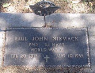 NIEMACK, PAUL JOHN - Buffalo County, Nebraska   PAUL JOHN NIEMACK - Nebraska Gravestone Photos