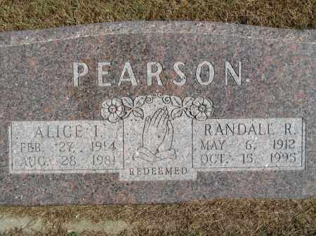 PEARSON, ALICE I. - Buffalo County, Nebraska | ALICE I. PEARSON - Nebraska Gravestone Photos