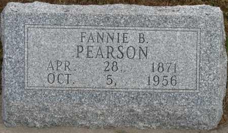 PEARSON, FANNIE B. - Buffalo County, Nebraska   FANNIE B. PEARSON - Nebraska Gravestone Photos