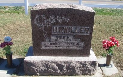 URWILLER, WILLIE H. - Buffalo County, Nebraska | WILLIE H. URWILLER - Nebraska Gravestone Photos