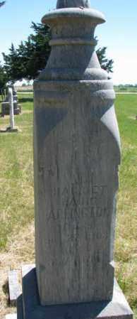 LAING ARLINGTON, HARRIETT - Burt County, Nebraska   HARRIETT LAING ARLINGTON - Nebraska Gravestone Photos