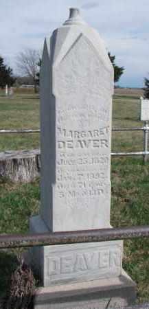 DEAVER, MARGARET - Burt County, Nebraska | MARGARET DEAVER - Nebraska Gravestone Photos