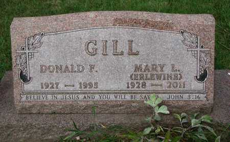 GILL, DONALD F. - Burt County, Nebraska | DONALD F. GILL - Nebraska Gravestone Photos