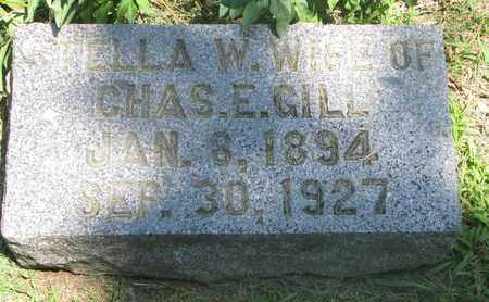 GILL, ELLA W. - Burt County, Nebraska | ELLA W. GILL - Nebraska Gravestone Photos