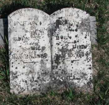 GILL, INFANT DAUGHTER #1 - Burt County, Nebraska | INFANT DAUGHTER #1 GILL - Nebraska Gravestone Photos