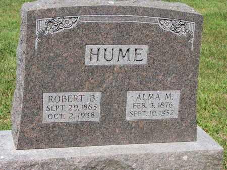 HUME, ROBERT B. - Burt County, Nebraska | ROBERT B. HUME - Nebraska Gravestone Photos