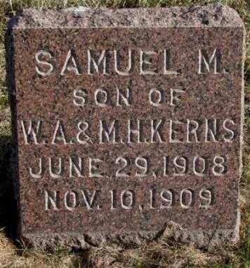 KERNS, SAMUEL M. - Burt County, Nebraska | SAMUEL M. KERNS - Nebraska Gravestone Photos