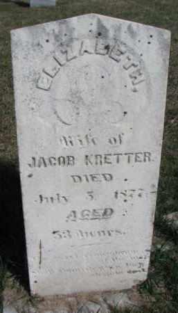 KRETTER, ELIZABETH - Burt County, Nebraska   ELIZABETH KRETTER - Nebraska Gravestone Photos