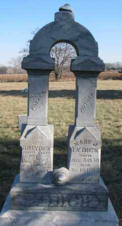 LYDICK, MARY J. - Burt County, Nebraska | MARY J. LYDICK - Nebraska Gravestone Photos