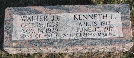 MARINE, WALTER JR. - Burt County, Nebraska | WALTER JR. MARINE - Nebraska Gravestone Photos