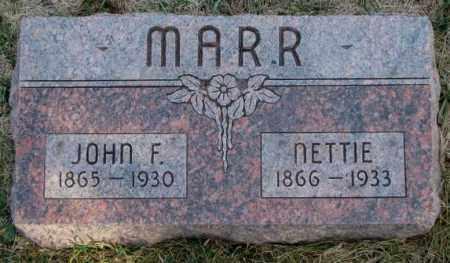 MARR, NETTIE - Burt County, Nebraska | NETTIE MARR - Nebraska Gravestone Photos