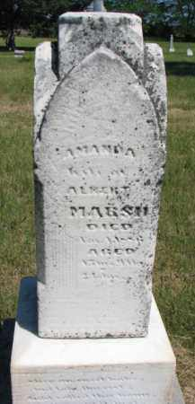 MARSH, AMANDA - Burt County, Nebraska | AMANDA MARSH - Nebraska Gravestone Photos